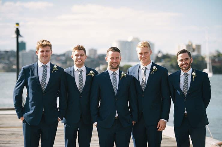 Elegant-Waterside-Wedding-Navy-&-Grey-Groomsmen-Suits - The ...