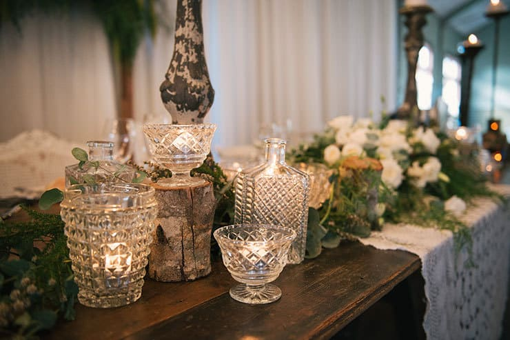 Elegant-Waterside-Wedding-Navy-&-Grey-Reception-Styling-Crystal-Glass-Candle-Holders