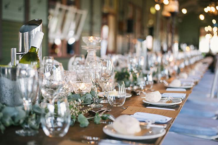 Elegant-Waterside-Wedding-Navy-&-Grey-Reception-Table-Setting