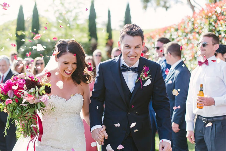 Maddie & Matt's Elegant Winery Wedding