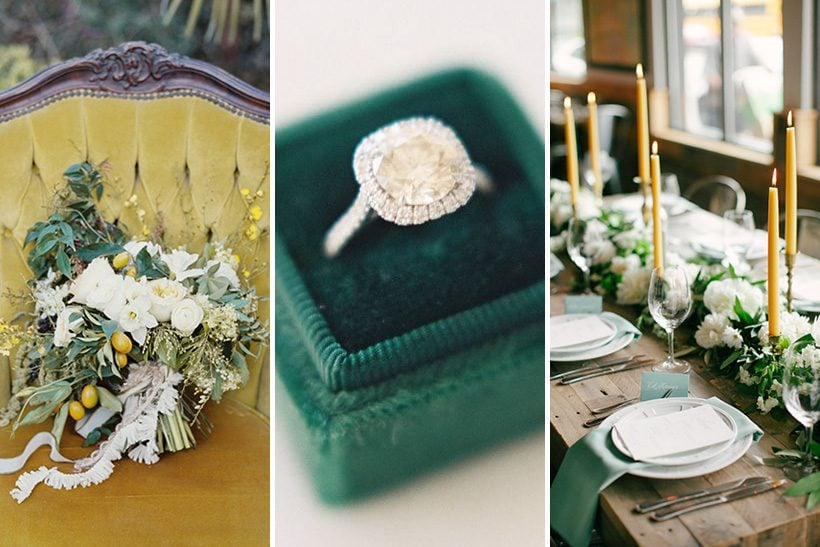 Emerald Green & Mustard Yellow Wedding Inspiration