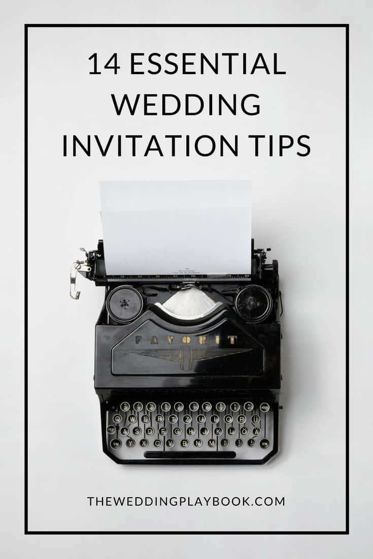 14 Essential Wedding Invitation Tips