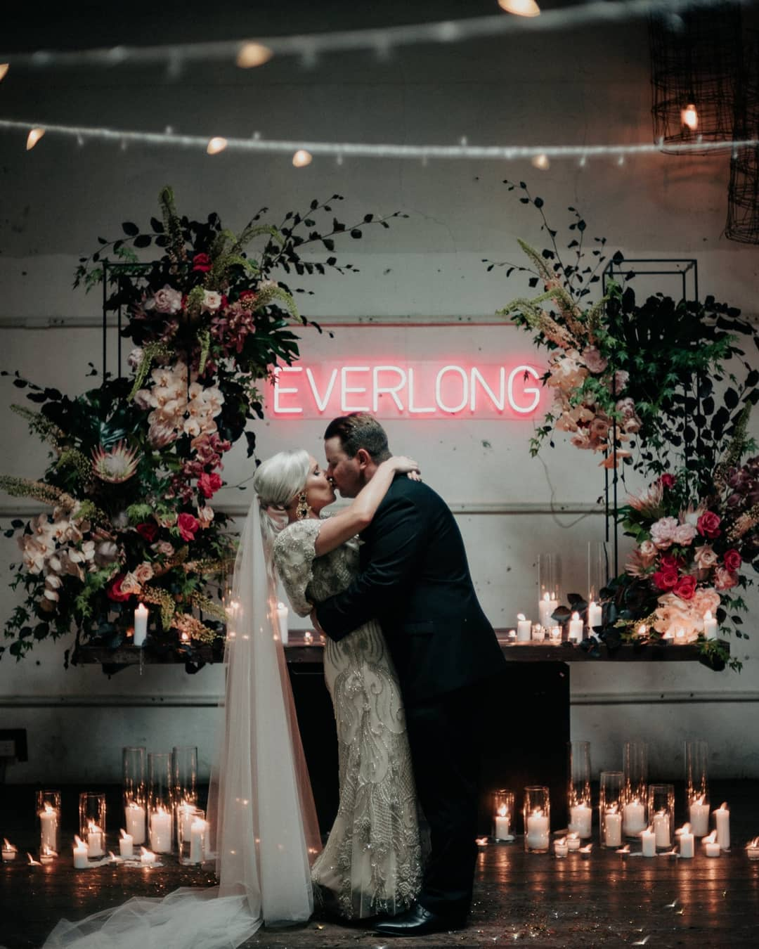 Everlong Wedding Ceremony Neon Sign by Neon Republic | Photography: Andrew Hardy