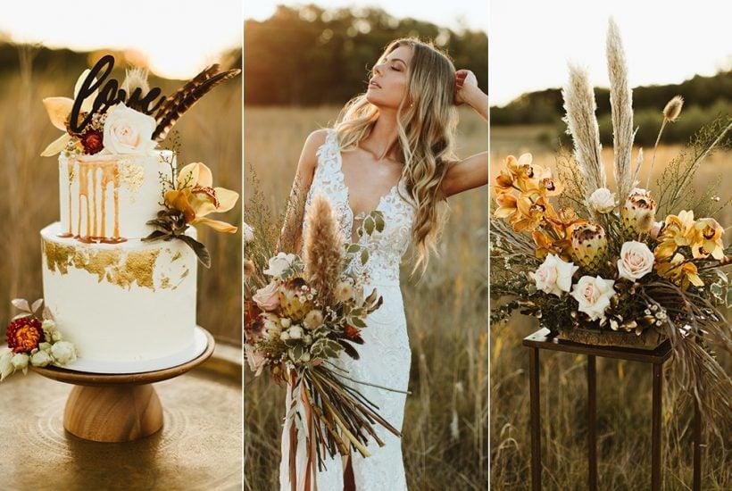 Fields of Gold Wedding Inspiration