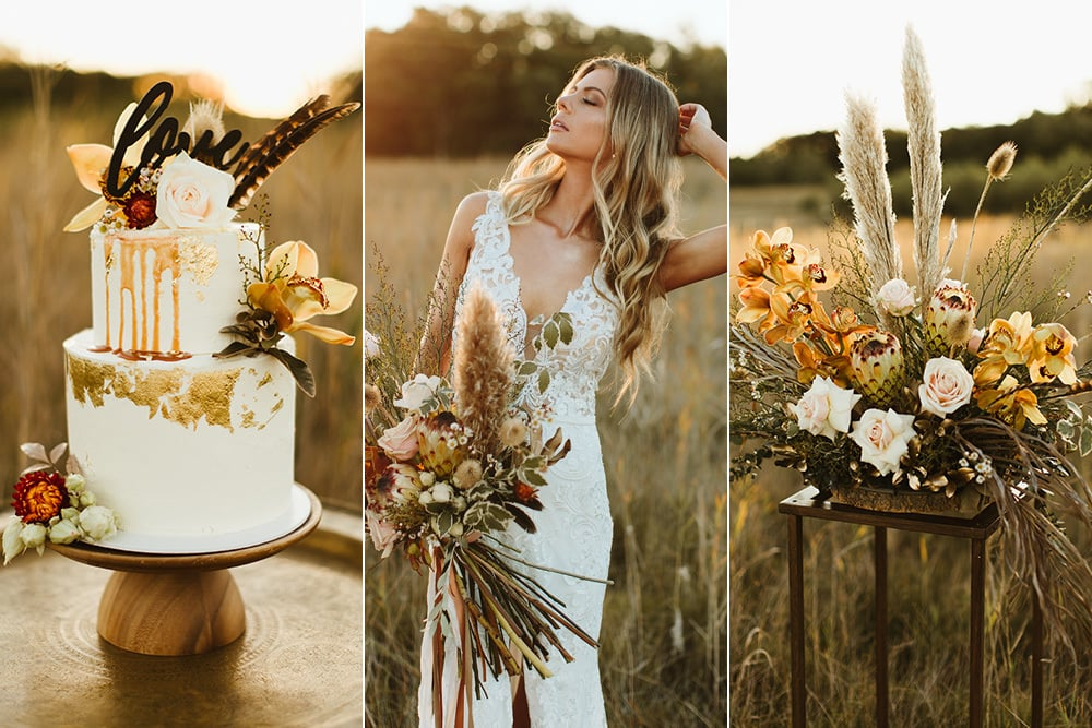 Fields of Gold Wedding Inspiration | Photography: Sam McGrath