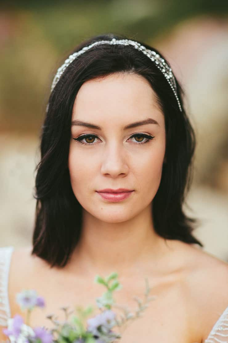 Romantic beach bride hair and makeup