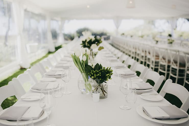 Fresh Green and White Coastal Wedding | Aimee Claire Photography