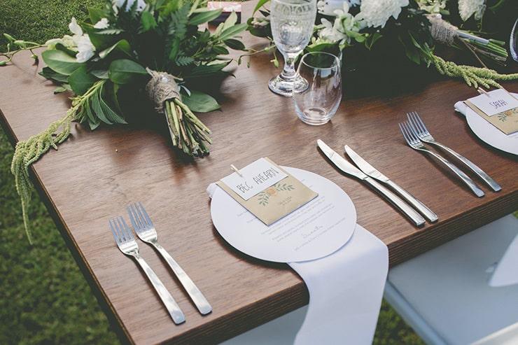 Fresh and Modern Garden Wedding