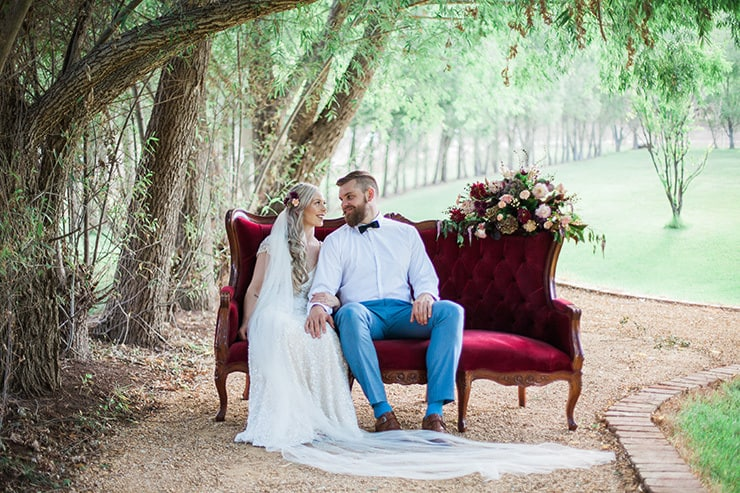 Geometric Wedding Inspiration in Burgundy and Gold   Blush & Mint Photography