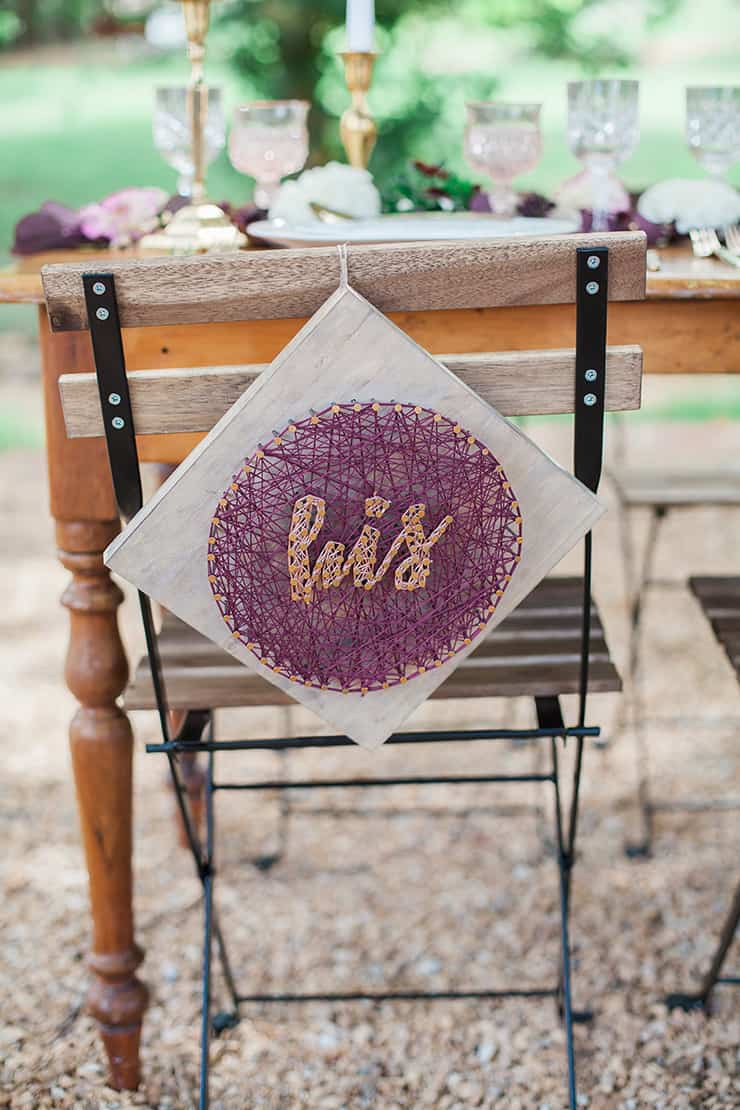 Geometric Wedding Inspiration In Burgundy And Gold