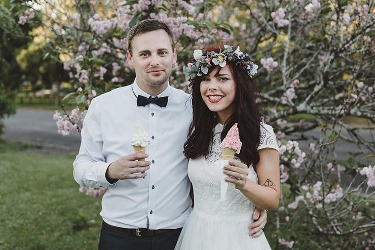 Cayce and Damien's Handmade Vintage Wedding |Lauren Campbell
