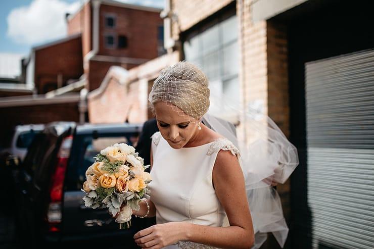 Industrial-Art-Gallery-Wedding-Bride-Veil