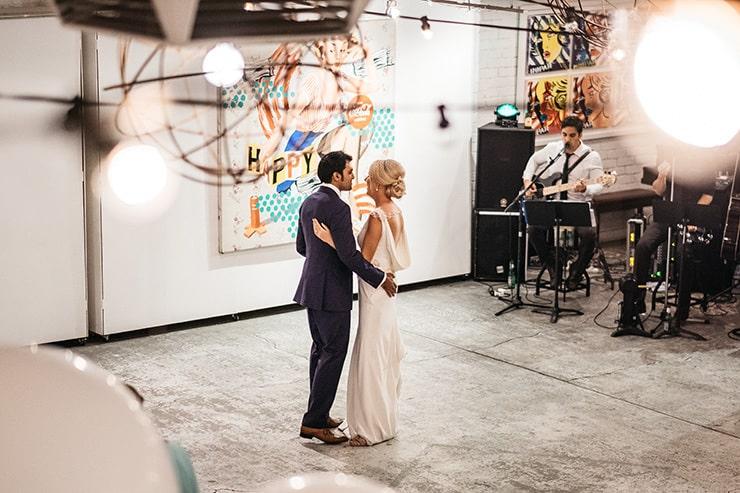 Industrial-Art-Gallery-Wedding-First-Dance