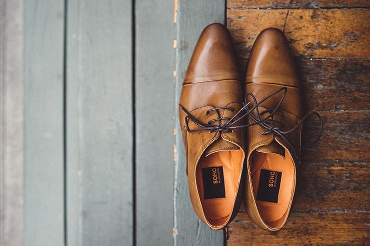 Industrial-Art-Gallery-Wedding-Groom-Shoes