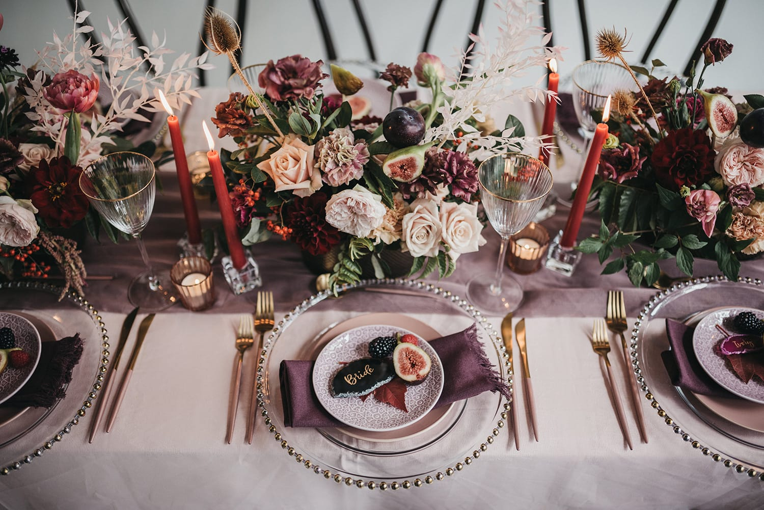Industrial Chic Wedding Inspiration in Berry Hues | Photography: Loop Studios