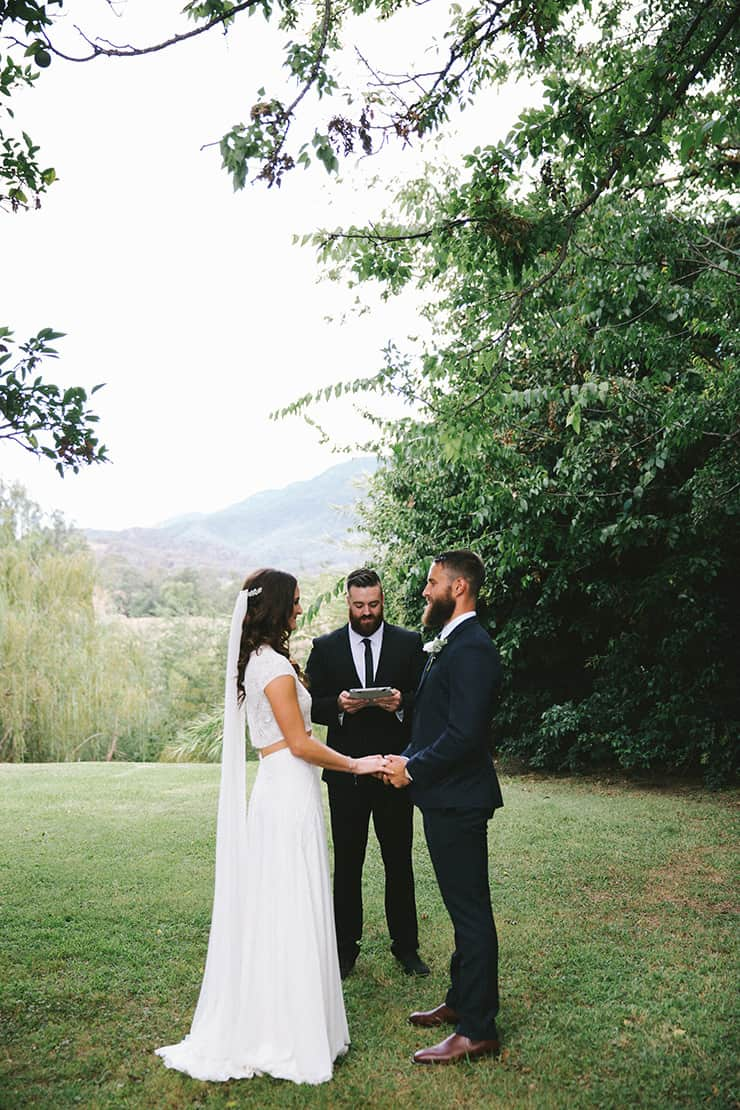 Intimate Outdoor Wedding Ceremony Vows The Wedding Playbook