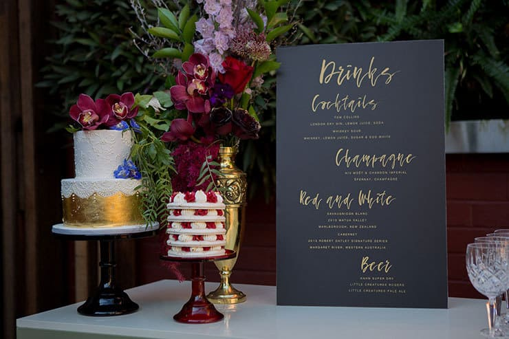 Jewel-Toned Secret Garden Wedding Inspiration