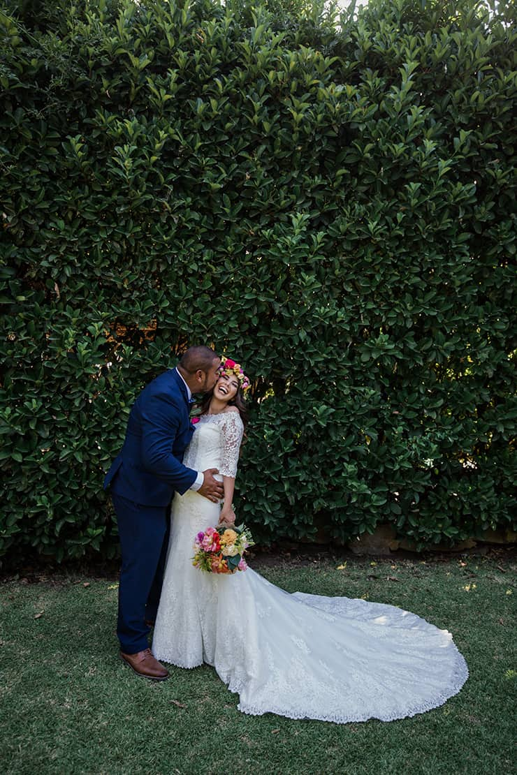Joyful and Bright Garden Wedding
