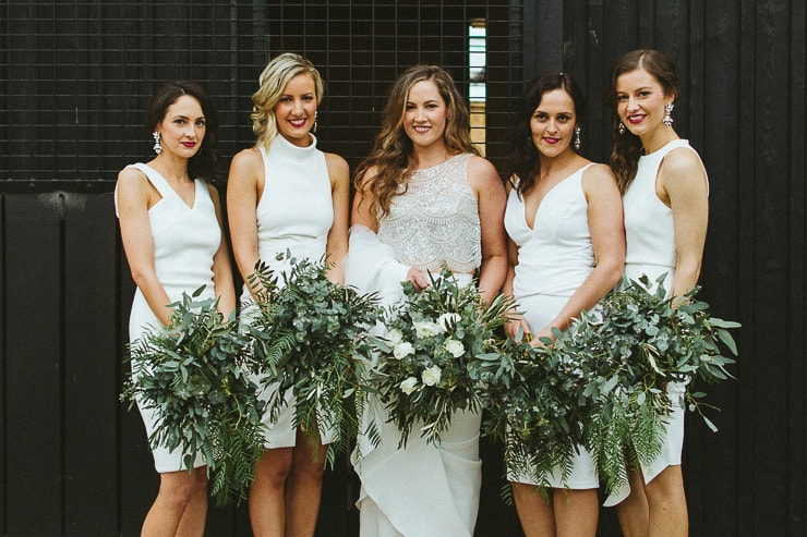 Lush Olive Green and White Winery Wedding | Sarah Godenzi