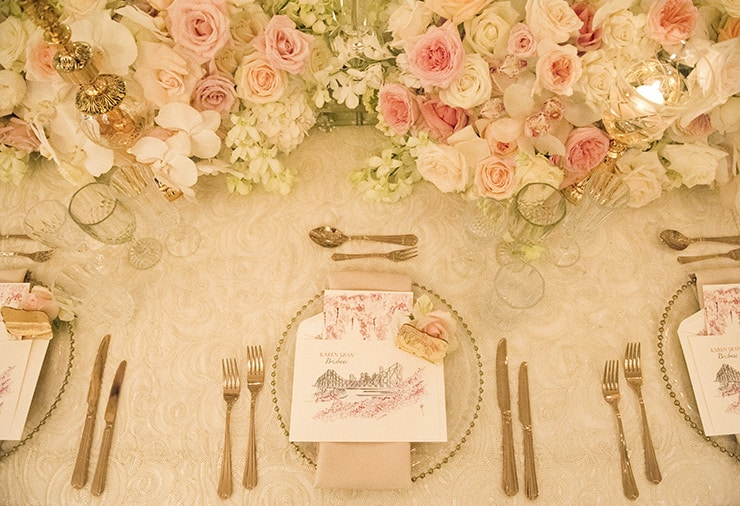 Luxurious Wedding Reception Inspiration Karen Tran Blush White 14