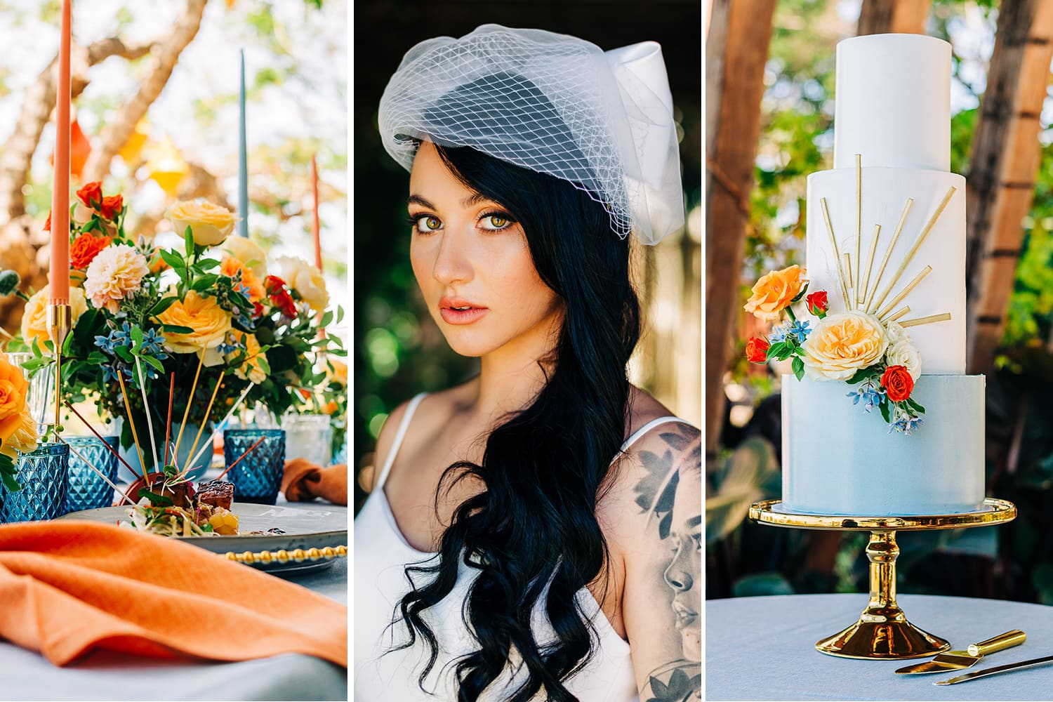 Bright Mid-Century Summer Wedding Inspiration with Sunburst Details