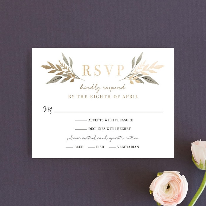 Minted Wedding Invitation RSVP