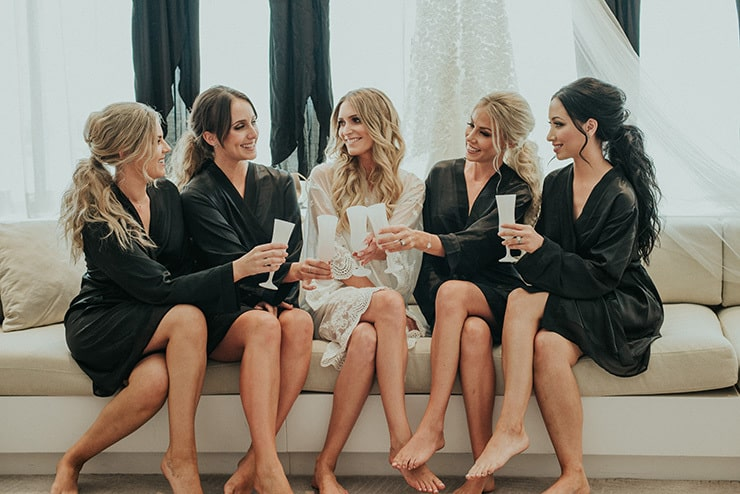 Modern-Black-White-Urban-Wedding-Bride-Bridesmaids-Getting-Ready
