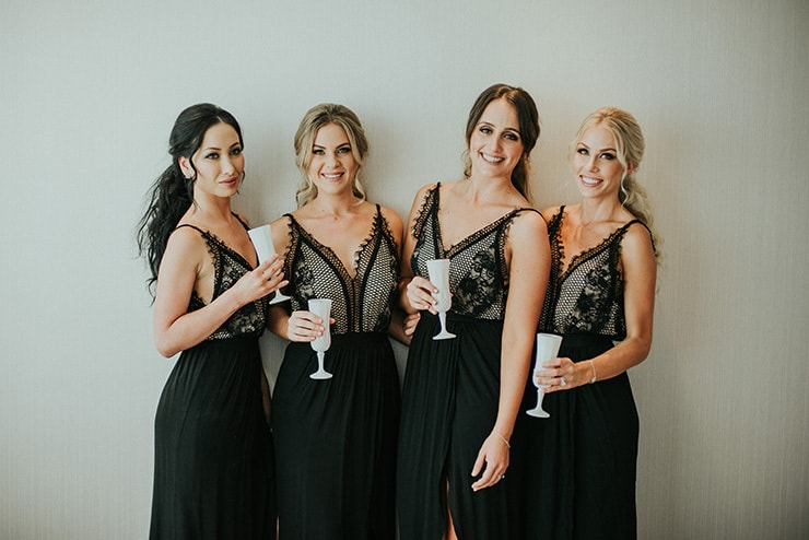 Modern-Black-White-Urban-Wedding-Bridesmaids