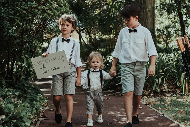 Modern-Black-White-Urban-Wedding-Children