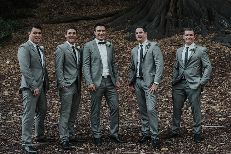 Modern-Black-White-Urban-Wedding-Groom-Groomsmen