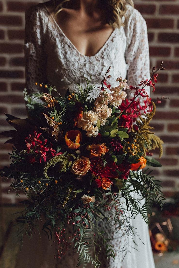 Modern Copper Amp Burgundy Wedding Inspiration