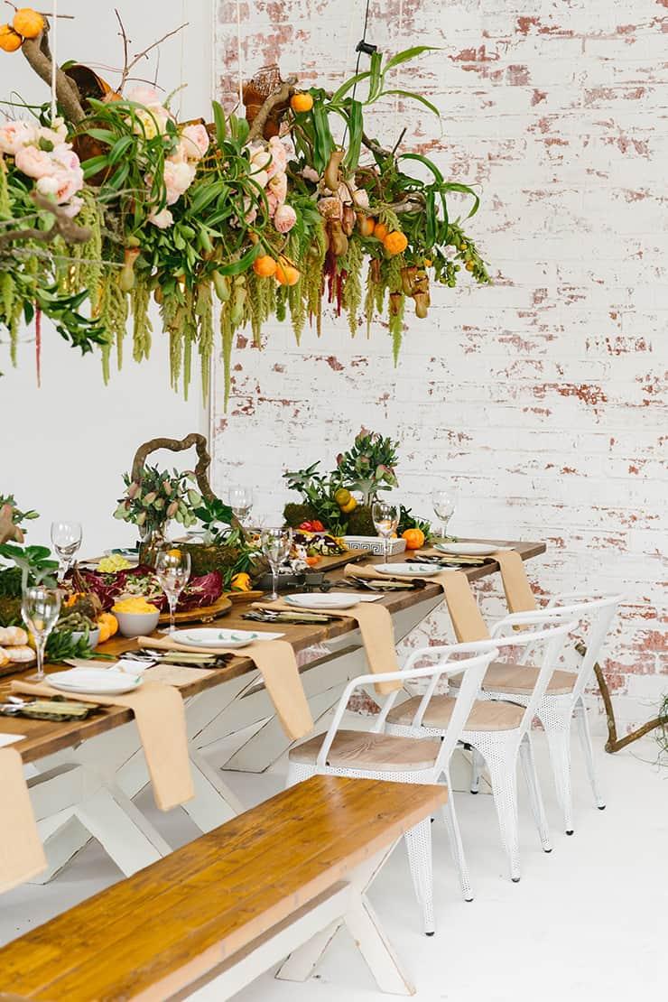 Modern Foodie Woodland Wedding Inspiration |Fifteen Photography