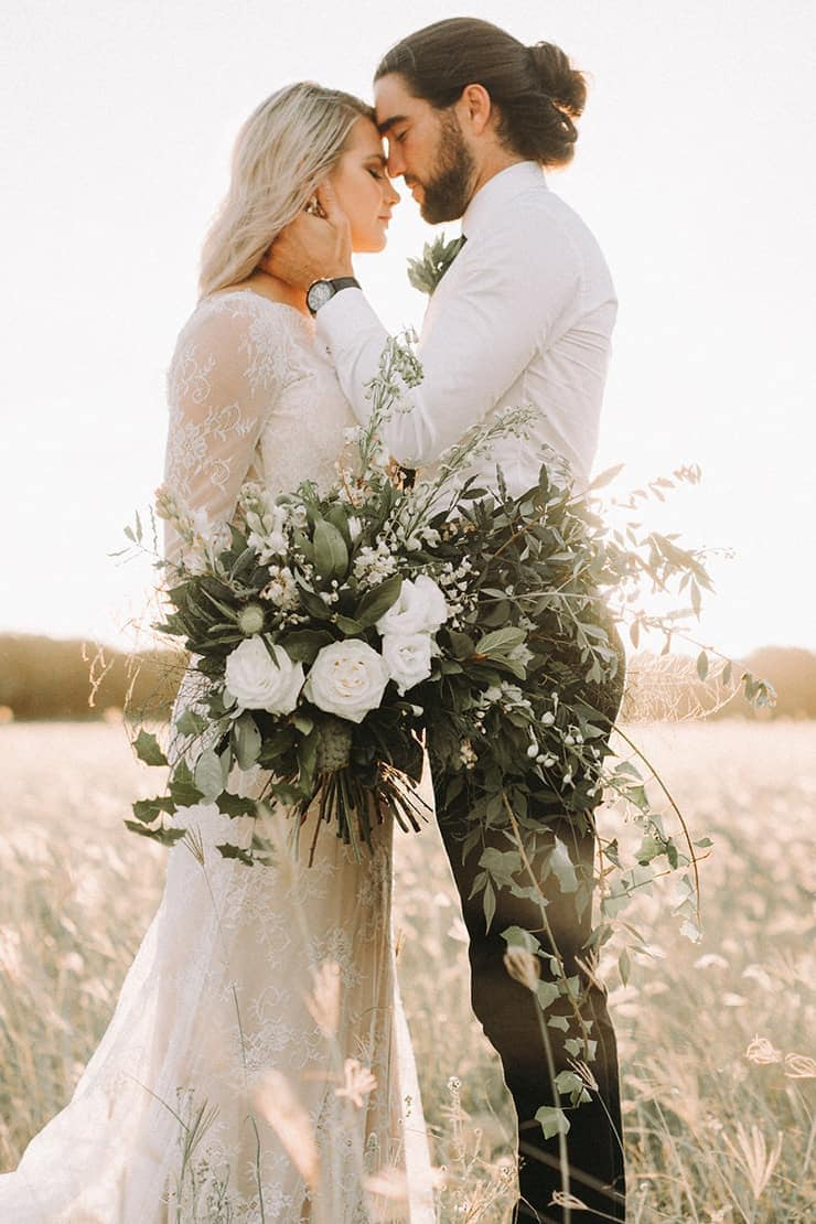 Modern Greenery Wedding Inspiration | Twig + Fawn Photography