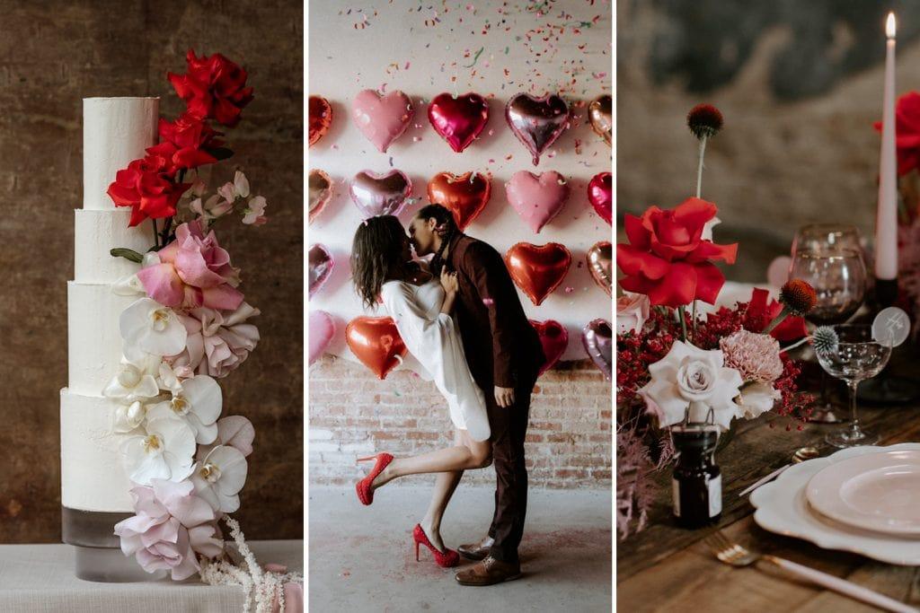 Modern Red & Pink Wedding Ideas