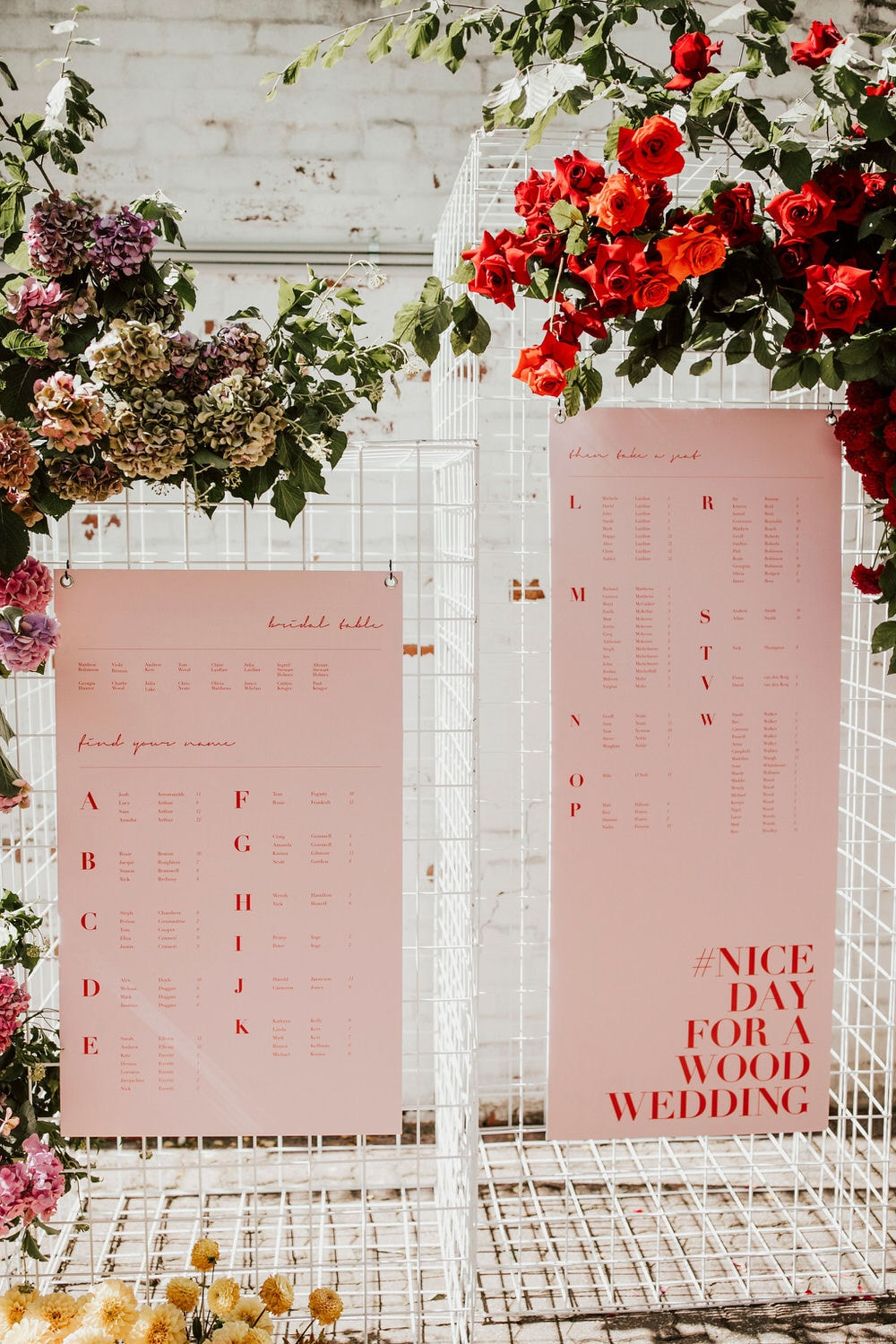 """Modern Red & Pink Wedding Ideas 