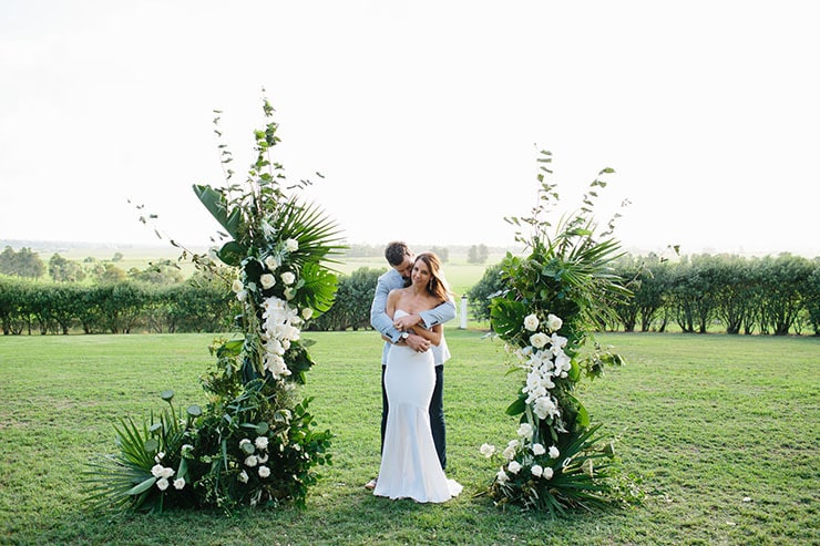 Kristen & Tom's Modern Romantic Wedding
