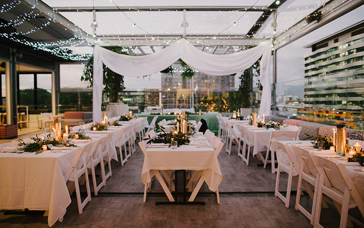 Ayla & Francis' Modern Rooftop Bar Wedding | Sophie Baker Photography