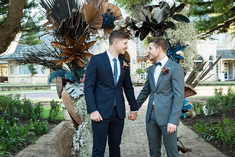 Modern Rustic Wedding Inspiration in Moody Blue & Copper | Jasmine Skye Photography