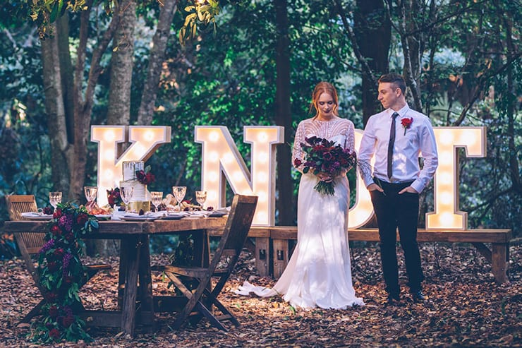 Modern Rustic Wedding Inspiration | Kristie Carrick Photography