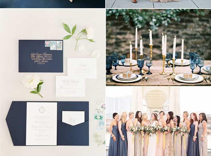 Elegant Navy and Champagne Wedding Inspiration