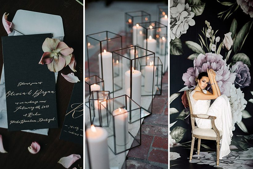 Moody Botanical Black & Purple Wedding Inspiration