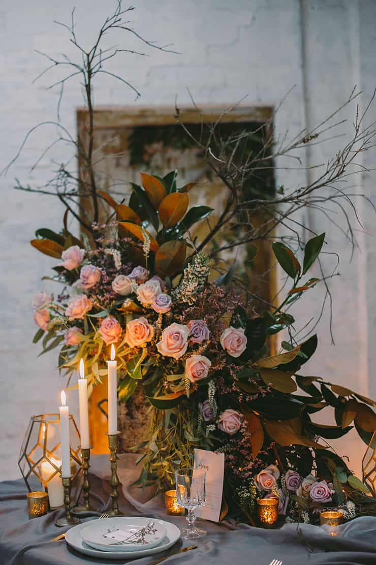 Moody Warehouse Wedding Inspiration