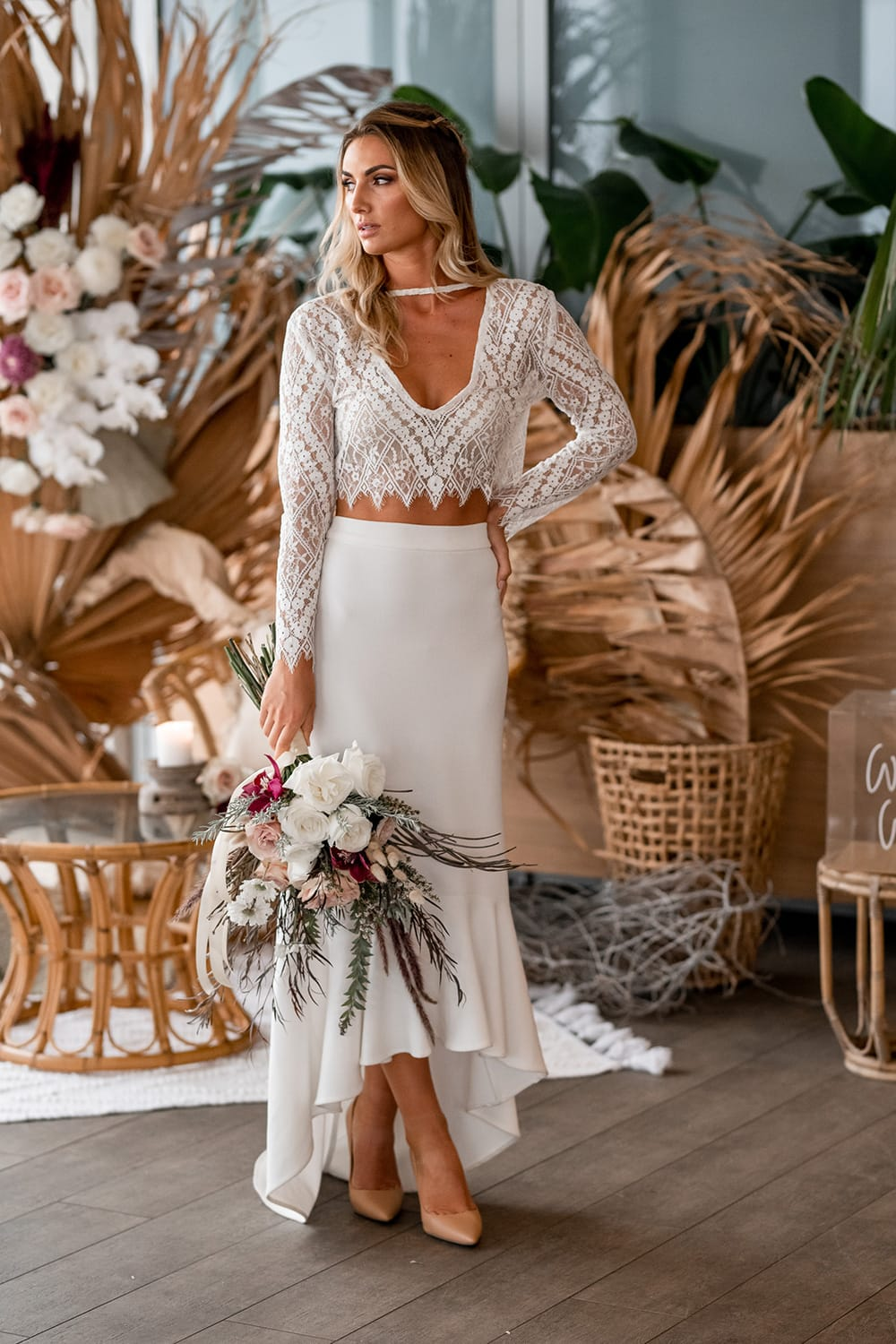 Natural Boho Beach Wedding Inspiration | Photography: Michael Boyle Photography
