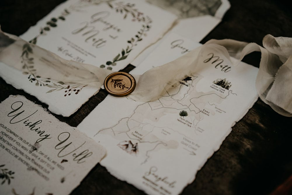 Natural Romantic Wedding Inspiration at a Rainforest Retreat | White Parrot Photography & Film