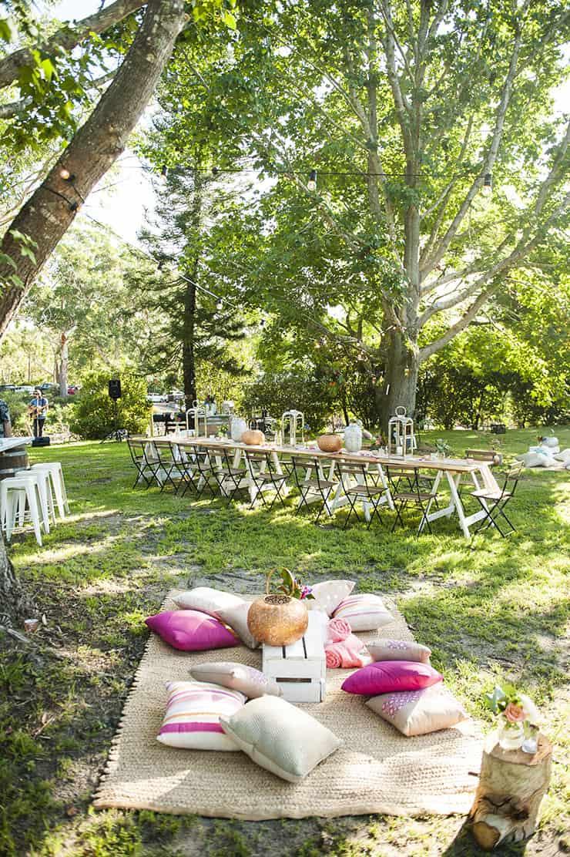 Naturally Beautiful Boho Wedding Reception Styling The Wedding