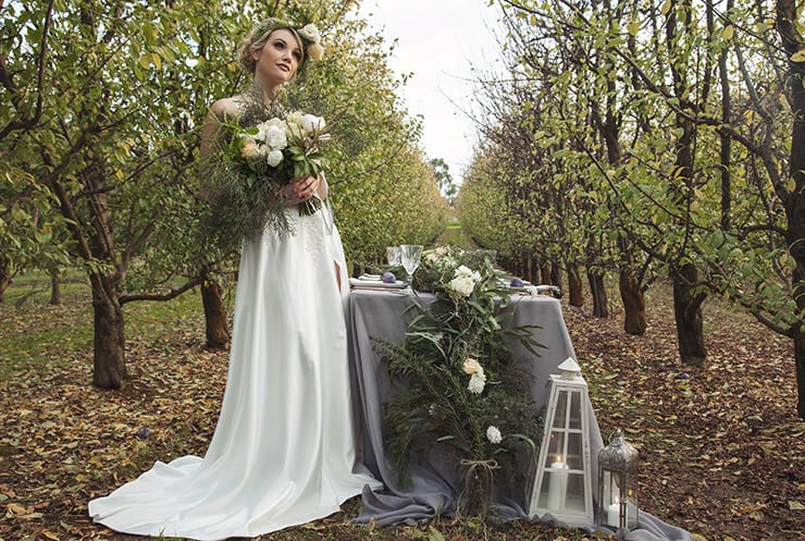 Orchard Inspired Wedding Ideas in Apricot and Plum   Taylor Mitchell Photography