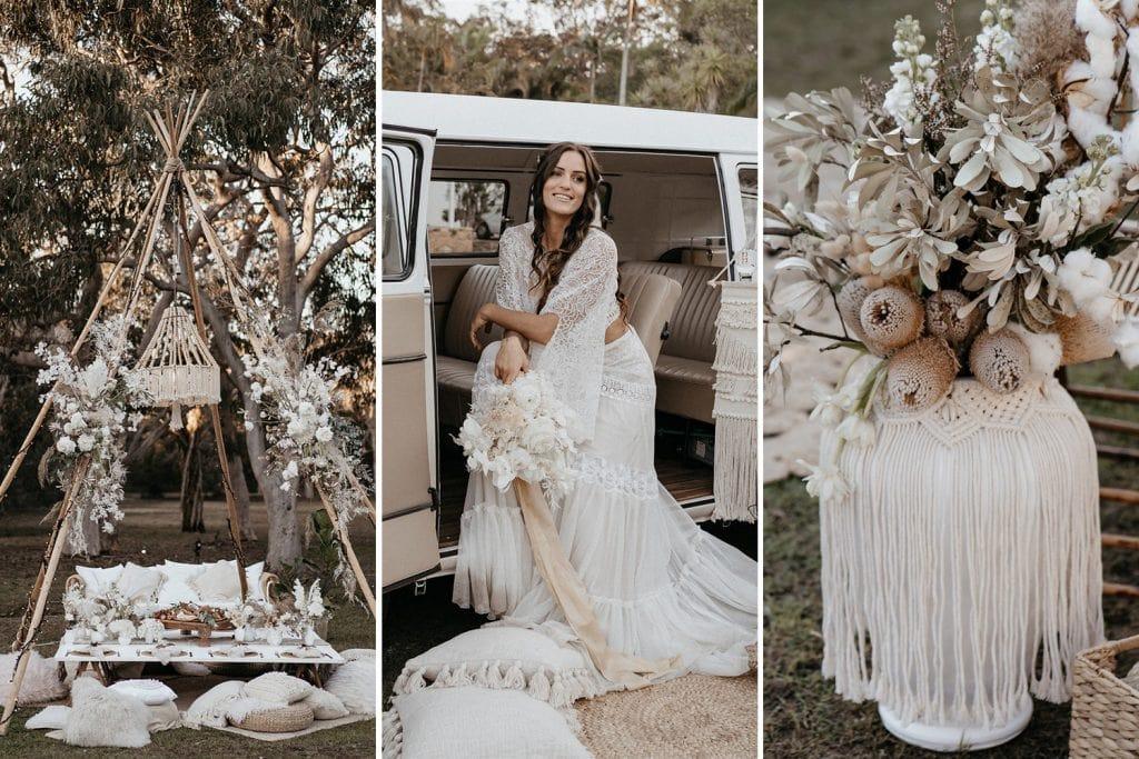 Outdoor Festival Bohemian Wedding Inspiration | Photography: Shae Estella Photo