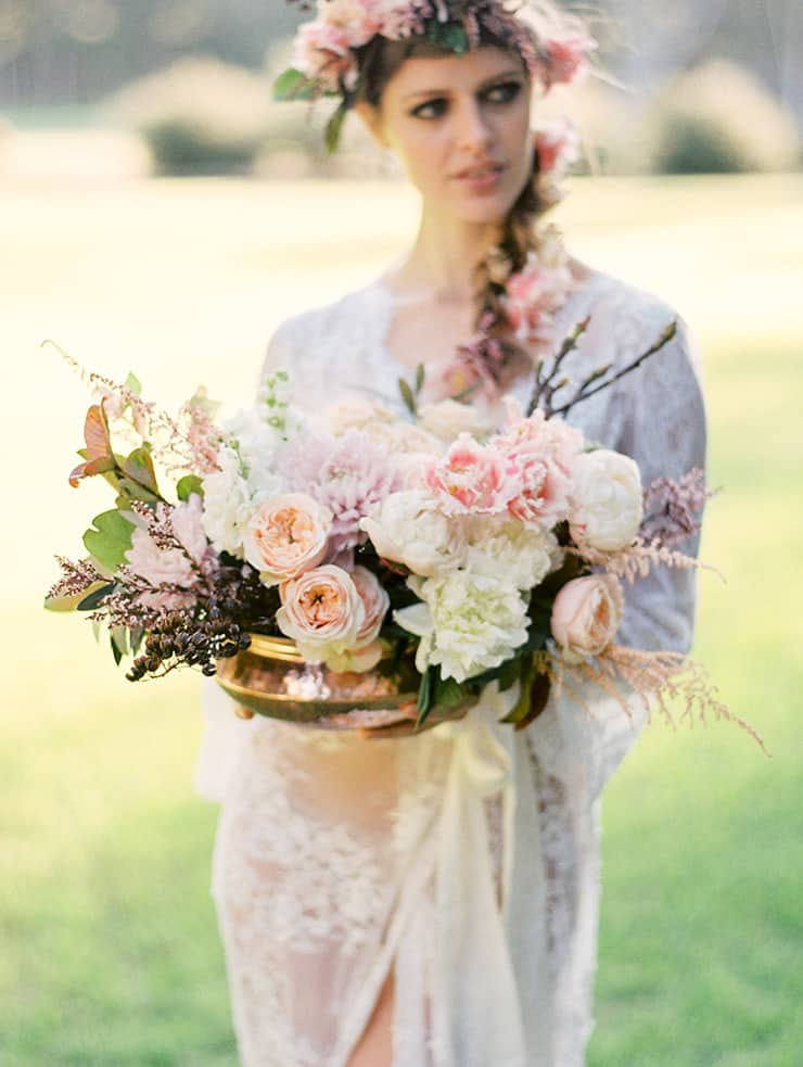 Romantic pastel floral arrangement