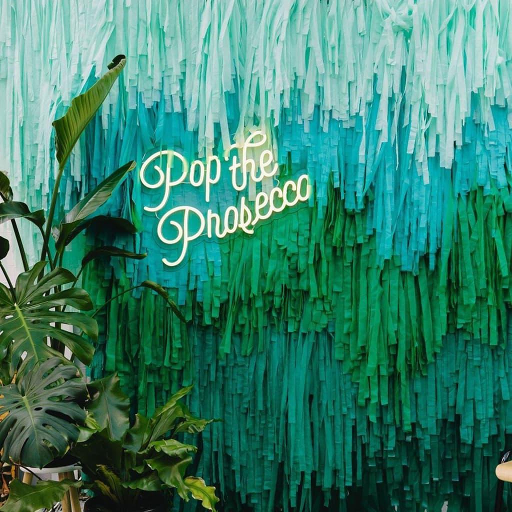 Pop the Prosecco Neon Sign by Electric Confetti | Photography: Urban Safari