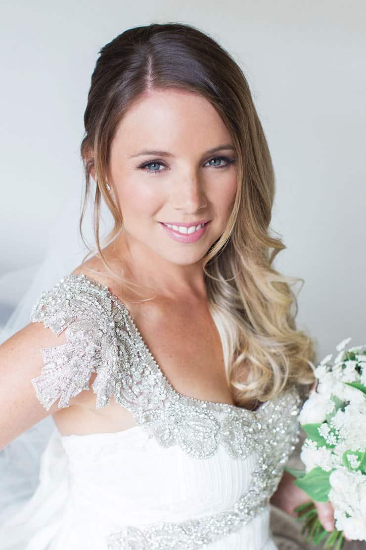 Bride hair and makeup portrait